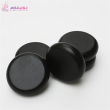 HIMABM 1 pack=4 pcs 8*8cm hot spa black basalt stone basalt stone essential oil massage volcanic energy stone for body massage(China)