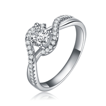 NBSAMENG Engagement Bague  Plated Vintage Wedding Rings For Women cz Diamonds Jewelry Accessories SMJ088