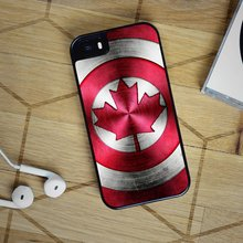 Captain America Canada Shield fashion cell phone case for iphone 4 4s 5 5s SE 5c 6 6S 6 plus 6S plus 7 7 plus &mm69