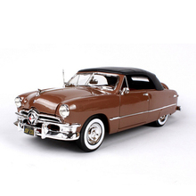 1:18 Scale Ford 1950 Vintage Classic Car Models Red and Coffee Diecast Models Children Gifts Toys Collections