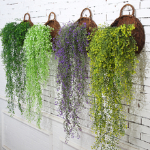 115cm 1pc Artificial Ivy Leaf Artificial Plants Green Garland Plants Vine Fake Foliage Home Christmas Wedding Decoration V4170(China)