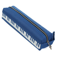 Piano Pattern Keyboard Storage Bags Bag Cloth Stationery Mini Pencil Pen Eraser Ruler Bag Holder Porable Home Sundries Pouch(China)