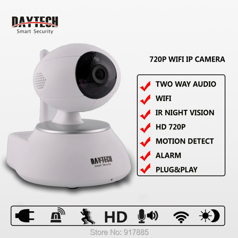 Daytech IP Camera WiFi Home Security Camera Surveillance Wireless Baby Monitor Two Way Audio Night Vision IR Cut 720P DT-C8818<br><br>Aliexpress