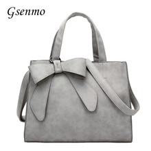 2017 New Fashion PU Leather Women Bag Handbags Bow Ladies' Shoulder Bag Nubbuck Leather Messenger Bags