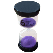 Practical Boutique 1 Purple Glass + Sand 5 minute tick time Hourglass With packaging 10 * 4.3cm