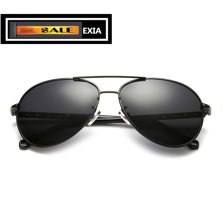 Pilot Polarized Lenses of Men Sunglasses AR Blue Coated EXIA OPTICAL KD-371 Series<br><br>Aliexpress