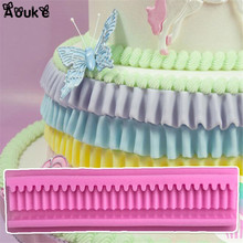 3D Wavy Long Strip Shape Fondant Cake Silicone Mold Chocolate Mould Biscuits Candy Moulds DIY Wedding Cake Decoration Tools D205