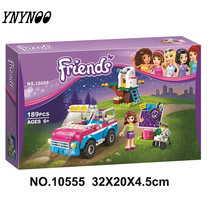 YNYNOO 10555 Girl Friends Olivias Expeditions Auto Car Toys DIY Building Brick Toys Girls Gift Compatible 41116