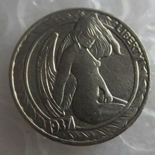 BU(02)Hobo Nickel 1937-D 3-Legged Buffalo Nickel Rare Creative Naked Woman Copy High Quality(China)
