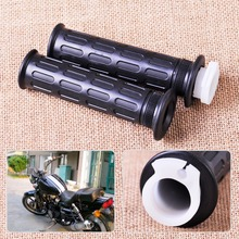 "Motorcycle 1 Pair 7/8"" 22mm Throttle Handle Bar Twist Hand Grips fit for Harley Chopper Kawasaki Yamaha Honda Scooter Dirt Bike"