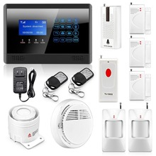 Ssafearmed Advanced Touch Keypad Wireless GSM Autodial Smart Home Security Alarm System Kit(China)