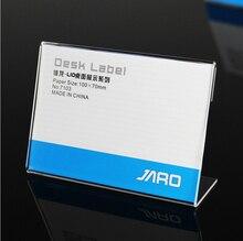 Clear 6x4 см l Форма PMMA Акриловые t1.3mm Пластик таблице знак ценник label Дисплей Бумага продвижение карт подставка держатель 50 шт.(China)