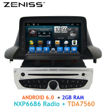 ZENISS Free shipping 1din Android 2GB RAM Car DVD for Renault Megane III Fluence 2009-2015 support Steering wheel control