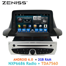 ZENISS Free shipping 1din Android 2GB RAM Car DVD for Renault Megane III Fluence 2009-2015 support Steering wheel control(China)