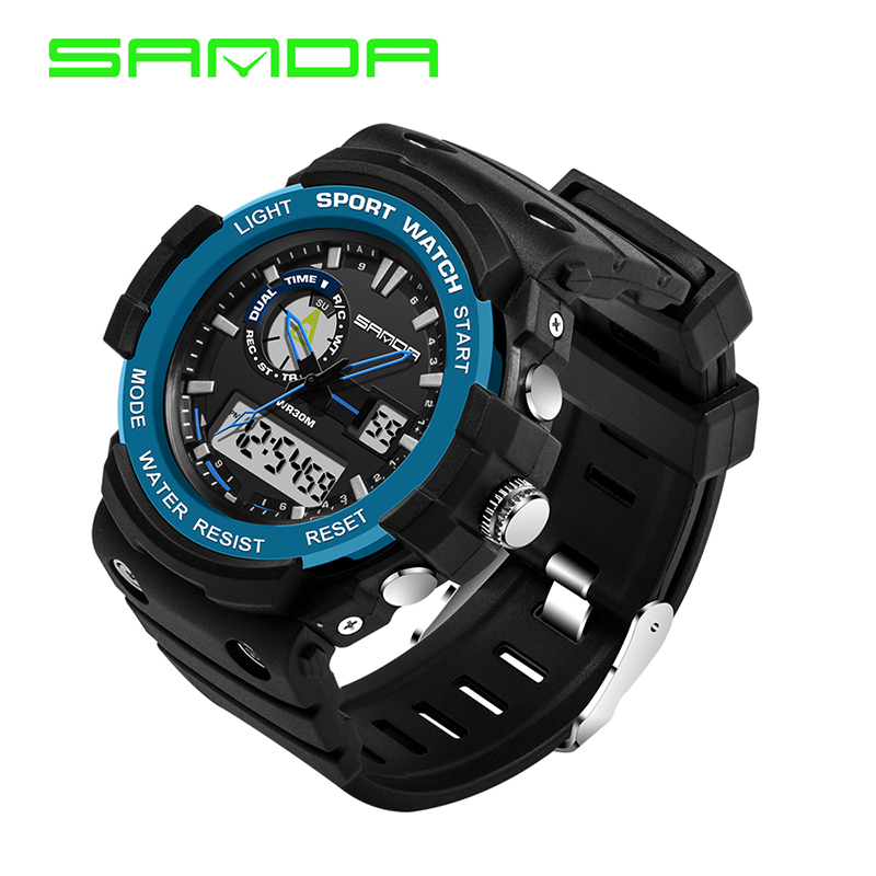 SANDA Mens Military Watches Sports Watches Dive Swiming Climbing LED Digital Fashion Outdoor Men Wrist Watches Erkek Kol Saati<br><br>Aliexpress