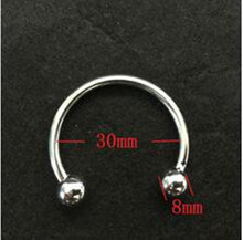 Buy 30mm Stainless steel glans ring,cock ring delay fun male sperm locking ring,male chastity device,penis ring,penis sleeve
