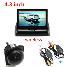 Car Parking Assistance System Auto Rearview Parking Monitor + Night Vision CCD Rear View Reverse Backup Camera + Wireless Kit
