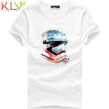 KLV Good Deal 2017 New Brand Men Boy Plus Size Print Tees Shirt Short Sleeve Cotton T Shirt Tops M-XXXL 1PC *30