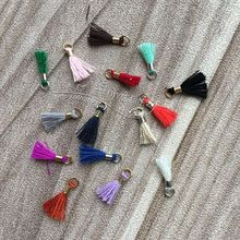DIY jewelry accessories Mini band lap Su Sui Hand-string bead special Cotton thread tassel Tassels are small With a circle Lengt