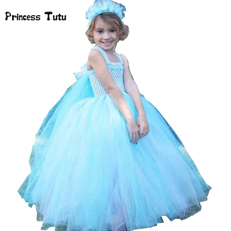 Kids Girls Elsa Dress Princess Tutu Dress Baby Girl Christmas Halloween Cosplay Costume Children Party Festival Birthday Dresses<br>