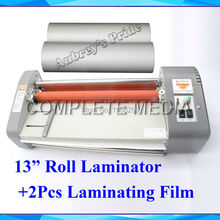 "A3 13"" Thermal Hot Cold Laminating Machine Mounting Roll Laminator + 2 Rolls Bopp 200M Film(China)"