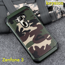 Case for ASUS Zenfone 3 ZE552KL 2 in1 Army Camo Camouflage Pattern PC+TPU Armor Anti-knock Protective Cover For ZE520KL
