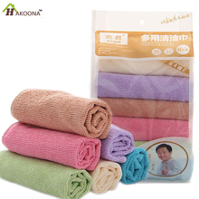 HAKOONA 6 Pcs/set  Absorbent Microfibre Kitchen  Dish  Towels Drying Cleaning towel Cloth dishcloths 30*30cm