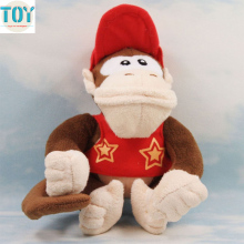 "New Super Mario Diddy Kong Soft Plush Toy Donkey Kong Didi Kongu Animal Doll Anime Baby Dolls Brinquedos 7"" Dollhouse"
