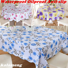 Wipe Clean Round PVC Vinyl Tablecloth Dining Kitchen Table Cover Protector OILCLOTH VINYL FABRIC CR-985