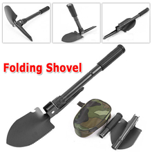 100% BRAND Military Portable Folding Shovel Survival Spade Trowel Dibble Pick Emergency Garden Camping Outdoor Palaplegable Tool(China)