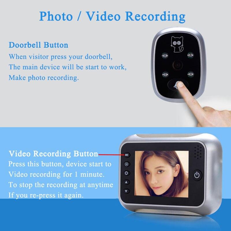 "HTB192b3hv6H8KJjSspmq6z2WXXa3 - New 3.5"" LCD Color Screen Electronic Door Bell Viewer IR Night Door Peephole Camera Photo/Video Recording Digital Door Camera"
