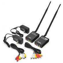 2.4G Wireless Audio Video Transmitter And Receiver Black AV Sender For Audio Video Accessories(China)