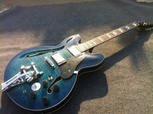 Free Shipping ES 335 hollow body jazz electric guitarwith bigsBy  bridge