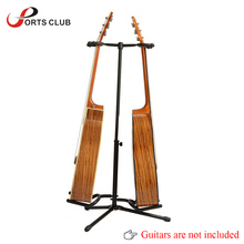 Double Guitar Stand Detachable Folding Adjustable for Acoustic Electric Guitar Bass