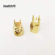 1PC SMA male plug RF Coax Connector PCB Cable Straight Goldplated NEW wholesale(China)