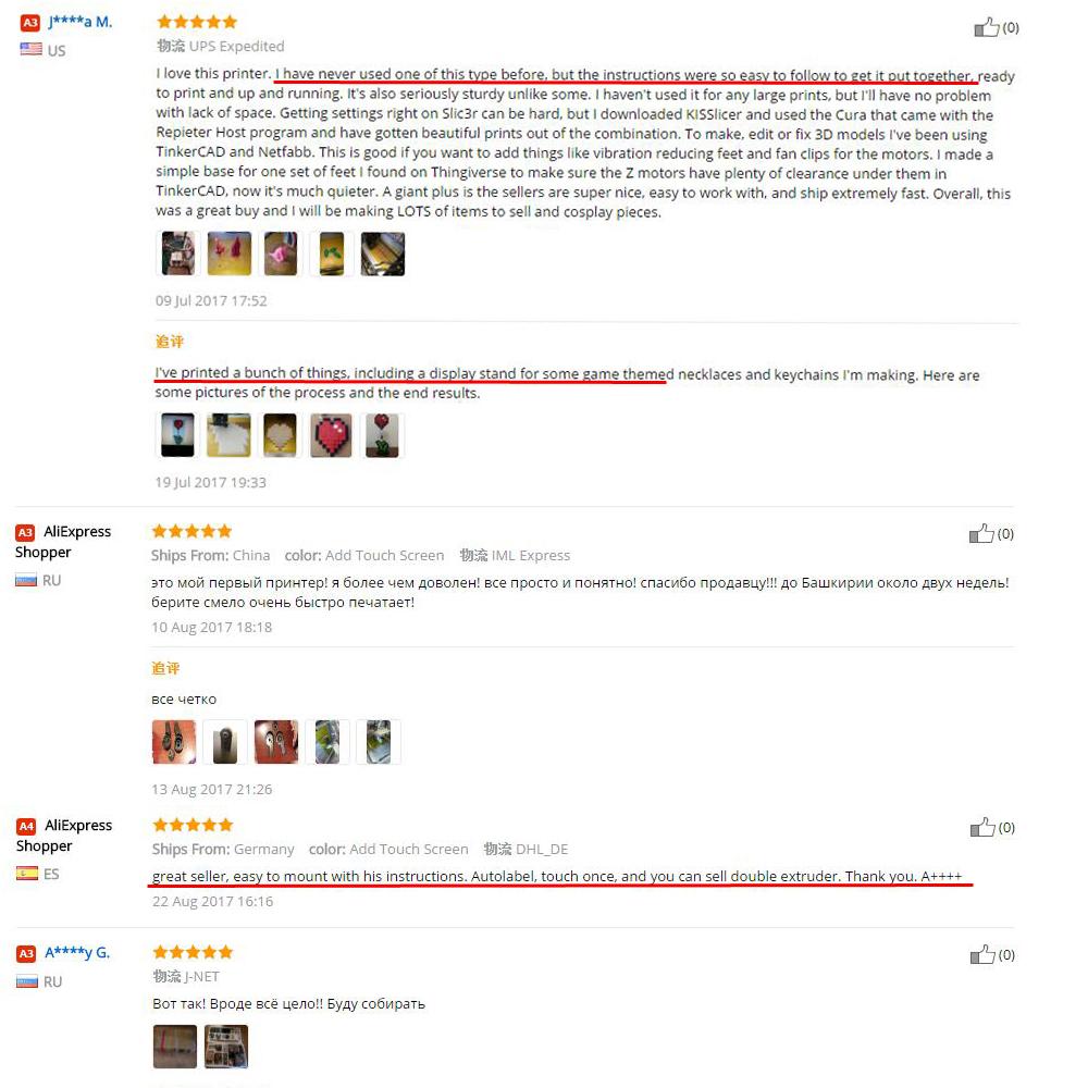 flsun cube 3d printer customer feedback