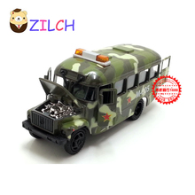 1:43 High imitation ETI Russian military emergency alloy car models in original box pull back muical flashing toy for children(China)