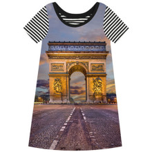 Baby girl dress dress girl wear kids clothes children summer style dress baby girls clothes cute The arc DE triomphe printing(China)