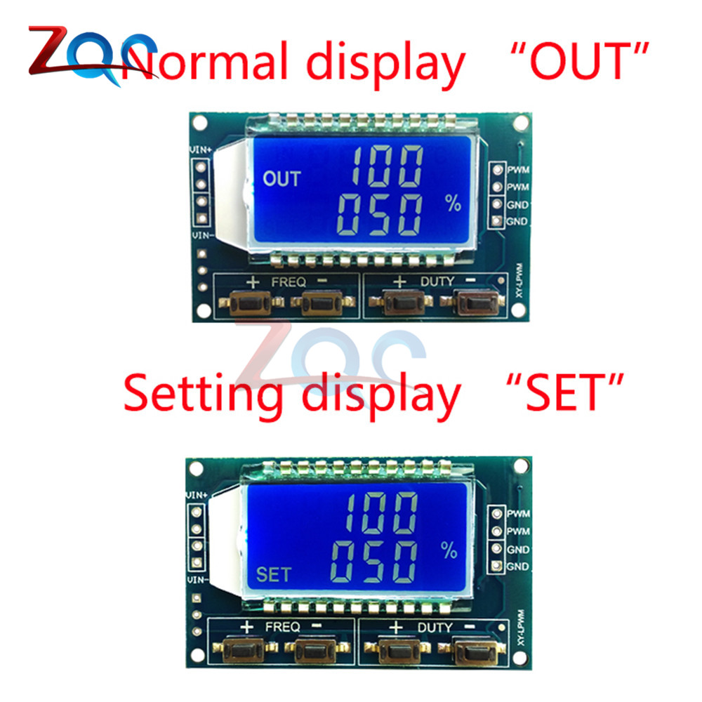 Signal Generator PWM Pulse Frequency Duty Cycle Adjustable Module LCD Display 1Hz-150Khz 3.3V-30V PWM Board Module 5
