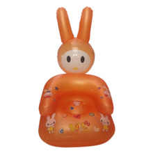 Lovely Inflatable Chair PVC Kids Learn Chairs Baby Seats Cute Portable Baby Sofa Cartoon Baby Chair Random Color(China)