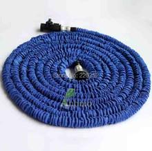 10pcs lot Expandable & Flexible water GARDEN HOSE pipe flexible water pipe hose 75FT,stretch pocket water hose with sprayer gun(China)