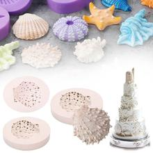 3D Silicone Molds Clamshel Undersea Cake Mould Sugarcraft Baking Craft DIY Molds and Candle Making