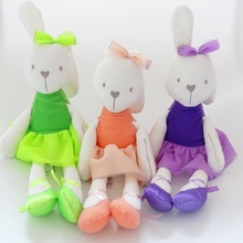 Rabbit & little bear Toys Soft Plush Rabbit Dolls Infants Animal Teddy Baby Sleeping Comfort Doll 42cm(China)
