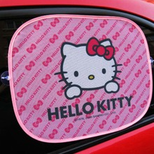 4PCS Hello Kitty Side Sun shade window Screen Visors Car Truck Accessories Car Side Window Sunshade Auto Windshield cover