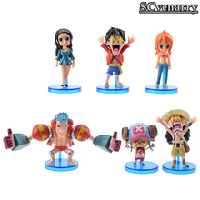 Anime one piece Toys Luffy Nami Usopp Franky Chopper Nico Robin Cosplay PVC Action Figure Baby Model Toy 6pcs/set