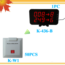 Hospital patient paging system For Elderly Nursing Homes with 50pcs K-W1 call bell for patient and older person(China)
