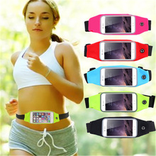 Universal 5.1 inch Waterproof Sport Waist Bags Smart Phone Bags for iPhone 7 6 6S SE 5S pockets Outdoor workout running Pouch