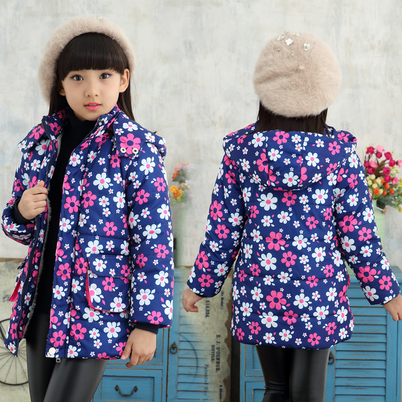 Girls Winter Coat 2017 New Brand Hooded Butterfly Pattern Girls Winter Jacket Children Down Coat Fashion Kids Jackets for GirlsОдежда и ак�е��уары<br><br><br>Aliexpress