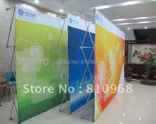 size: 230X300CM, quality fabric POP up backdrop, banner stand up, free standing background, free shipping