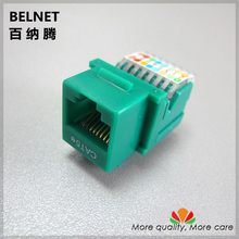 5pcs/lot UTP CAT5e network Module RJ45 computer connector Tool-free Information socket IO Cable adapter Keystone Jack(China)
